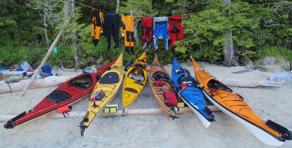 Kayaks Stored for the Night above the High Water Line.